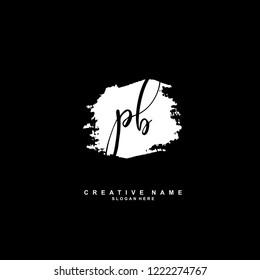P B PB Initial logo template vector