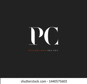 P C letters Joint logo icon vector template for corporate logo and business card design.