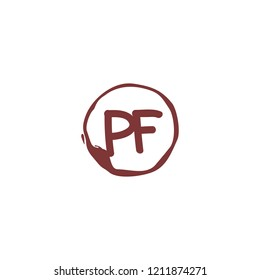 P F PF Initial abstract logo concept vector