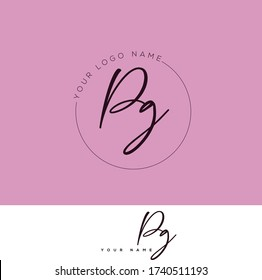 P G PG Initial letter handwriting and signature logo.