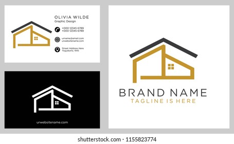 P initial logo with business card vector template