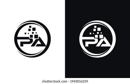 P A Initial Monogram Letter Vector. PA Letter Logo Design Template.