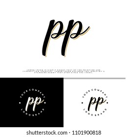 P P initial name vintage logo vector