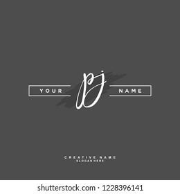 P J PJ Initial logo template vector