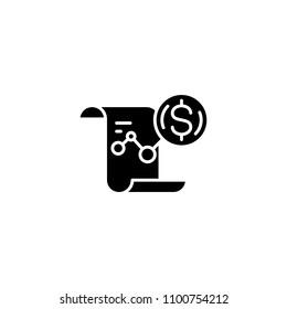 P l report black icon concept. P l report flat vector symbol, sign, illustration.