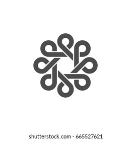 P Letter Celtic Ornamental Logo Template Illustration Design. Vector EPS 10.