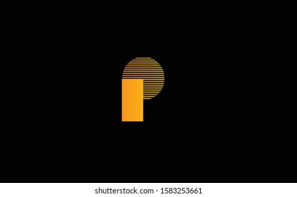 P Letter Logo Design with Creative Modern Trendy Typography