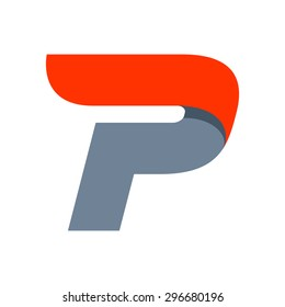 P letter logo design template. Fast speed vector unusual letter. Vector design template elements for your application or company.