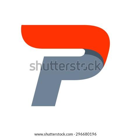 p letter logo design template fast のベクター画像素材 ロイヤリティ