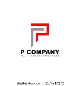 P letter logo design vector template