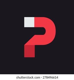 P Letter Logo icon design template elements. Graphic Alphabet Symbol for Corporate Business Identity. Creative Typographic Concept Icon