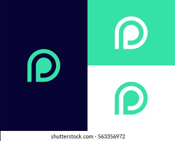 P Letter Logo icon elements. Creative Graphic Alphabet Symbol for Corporate Business Identity.  Typographic Concept design template