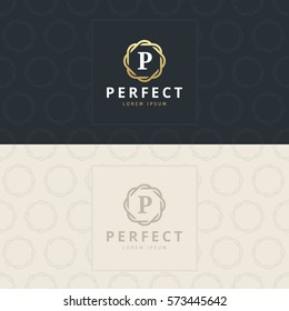 P Letter Logo, Icon with pattern. vector element