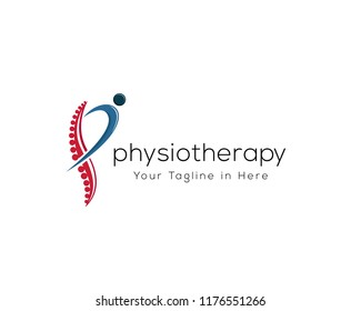 P letter logo, Spine health logo, spine care logo, Physiotherapy logo