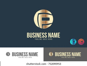 P Letter Logo Template Design Vector