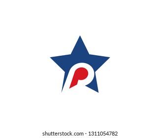 P letter logo vector template
