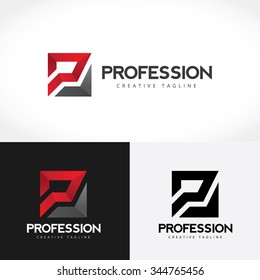 P letter Pro automotive logo template