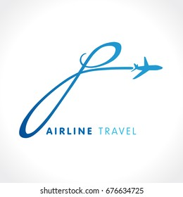 "P letter travel company logo. Airline business identy travel icon design with emblem ""P"". Fly plane travel vector symbol template"