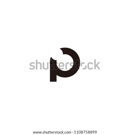 p lettet vector logo stock vector royalty free 1108758899
