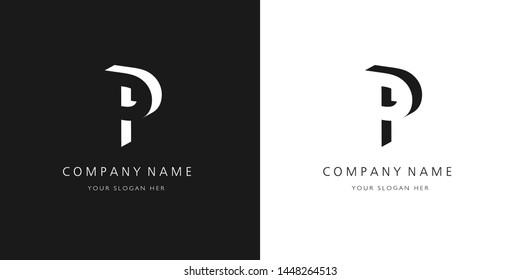 P logo, modern design letter character