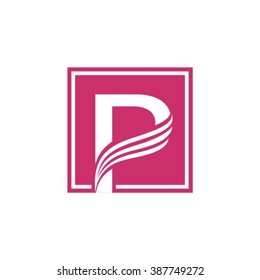 P logo vector element