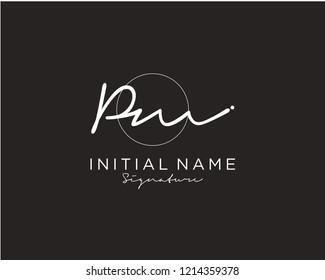 P M Signature initial logo template vector
