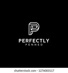 P monogram perspective logotype