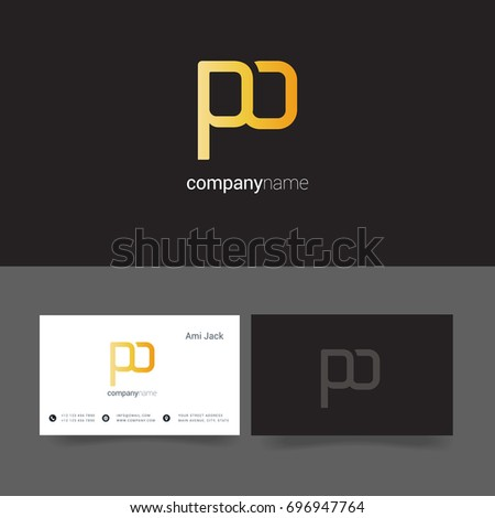 P O Joint Logo Design Vector Stock Vector Royalty Free 696947764