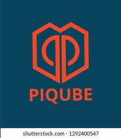 P Qube Logo Template