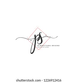 P S PS Initial letter handwriting and  signature logo.