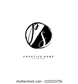 P S PS Initial logo template vector