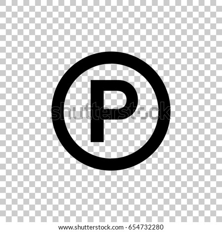 P Sound Recording Copyright Symbol Isolated Stock Vector Royalty