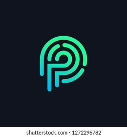 P tech letter logo