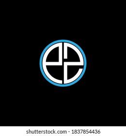 P Z letter logo custom design on black color background, pz monogram