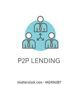 P2P Lending Vector Icon