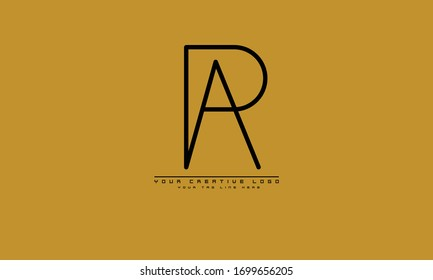 PA AP abstract vector logo monogram template