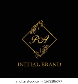 PA Initial wedding logo template vector