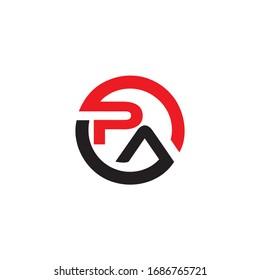 pa letter logo vector design
