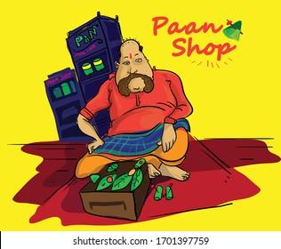 paan wala mumbai vector illustration vector