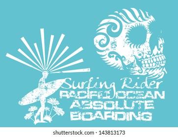 pacific ocean college surfer vector art