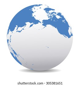 Pacific Rim North America, Canada, Siberia Russia and Hawaii Global World