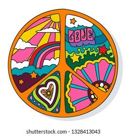 Pacific Symbol Psychedelic 60s Hippie Style