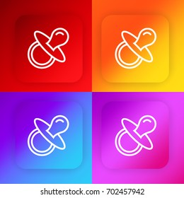 Pacifier four color gradient app icon set