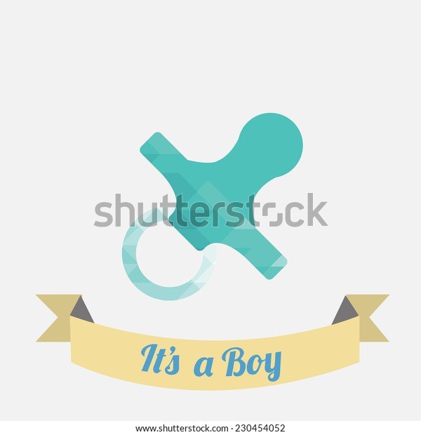 pacifier illustration  over white color background