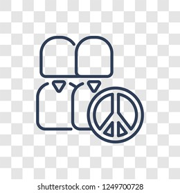 Pacifism icon. Trendy linear Pacifism logo concept on transparent background from Political collection