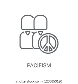 Pacifism icon. Trendy Pacifism logo concept on white background from Political collection. Suitable for use on web apps, mobile apps and print media.