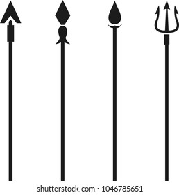 Pack of 4 different spear vectors