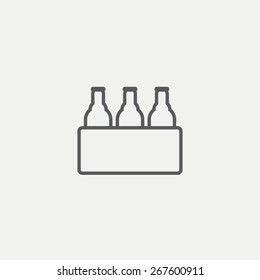 Pack of beer icon