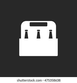 Pack of beer symbol sign simple icon on background