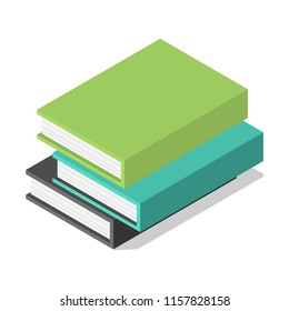 Pack of books on table icon. Isometric of pack of books on table vector icon for web design isolated on white background
